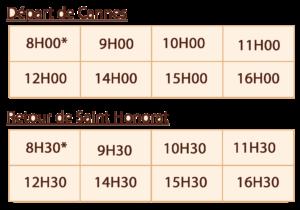 Horaires Navette Iles de Lérins - Saint Honorat