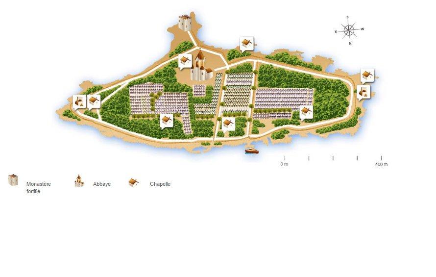 Plan Abbaye Lerins